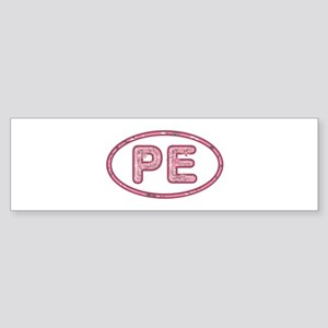 PE Pink Bumper Sticker