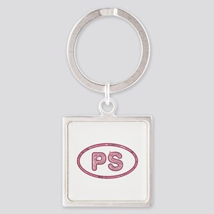 PS Pink Square Keychain