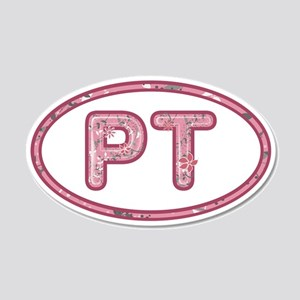 PT Pink 20x12 Oval Wall Decal