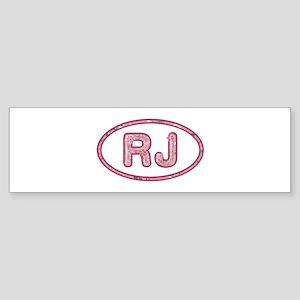 RJ Pink Bumper Sticker