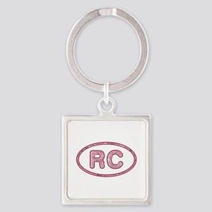 RC Pink Square Keychain