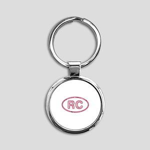 RC Pink Round Keychain