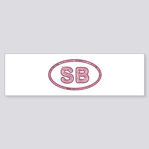 SB Pink Bumper Sticker