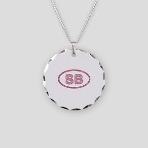 SB Pink Necklace Circle Charm
