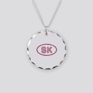 SK Pink Necklace Circle Charm