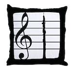 Oboe Lover's Throw Pillow