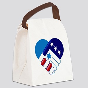 Israel and America Canvas Lunch Bag