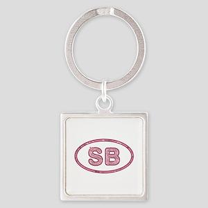 SB Pink Square Keychain
