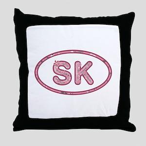 SK Pink Throw Pillow