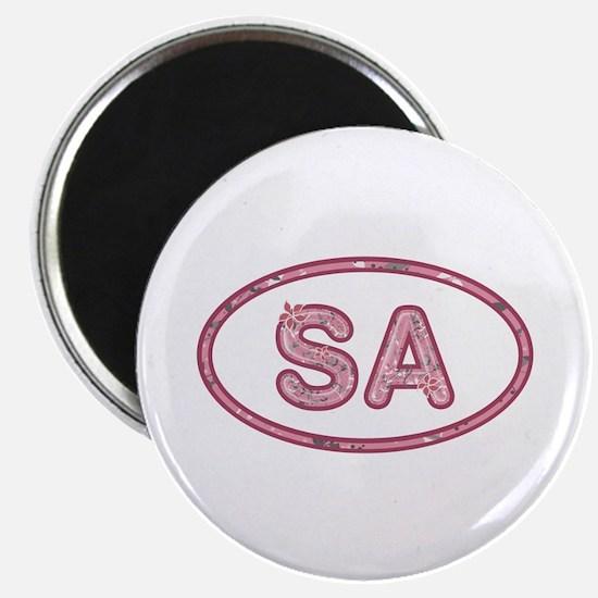 SA Pink Round Magnet