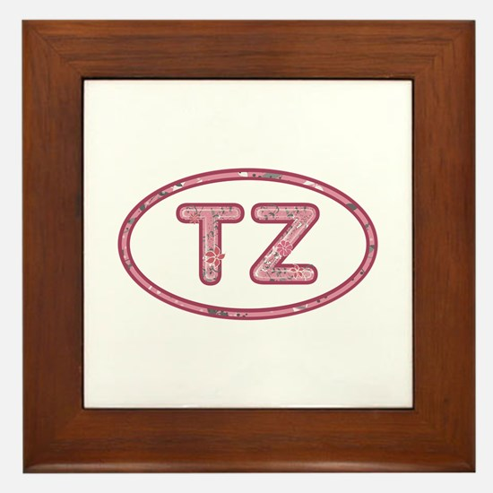 TZ Pink Framed Tile
