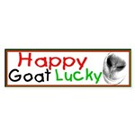 Happy Goat Lucky Smile bumper sticker