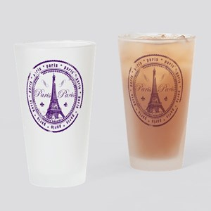Paris France Eiffel Tower Drinking Glass