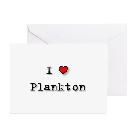 I Love Plankton Greeting Cards (Pk of 10)