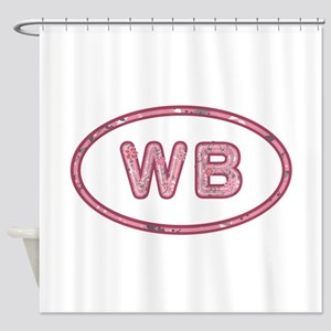 WB Pink Shower Curtain