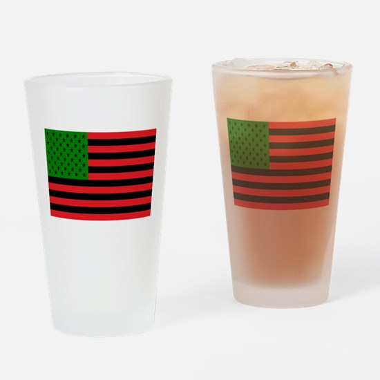 African American Flag Drinking Glass
