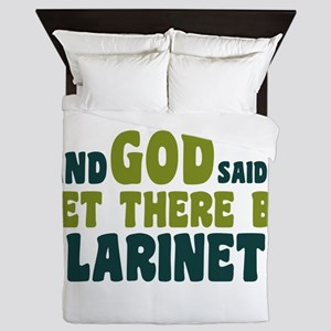 Let There Be Clarinets Queen Duvet