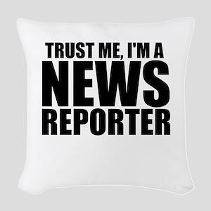 Trust Me, I'm A News Reporter Woven Throw Pill