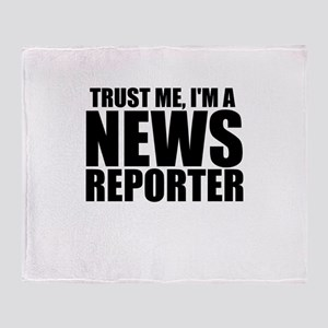 Trust Me, I'm A News Reporter Throw Blanket