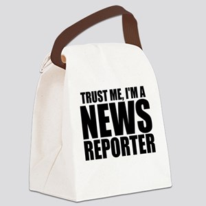 Trust Me, I'm A News Reporter Canvas Lunch Bag
