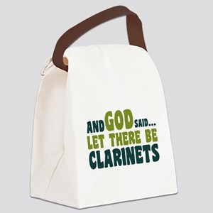 Let There Be Clarinets Canvas Lunch Bag