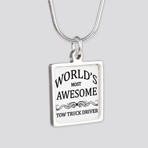 World's Most Awesome Tow Truck Driver Silver Squar
