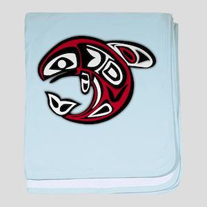 PNW Tribal Salmon baby blanket