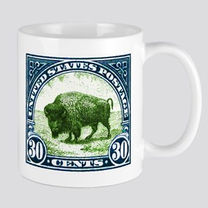 Antique 1923 U.S. American Bison Postage Stamp Mug