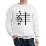 Oboe on a Treble Clef Staff Sweatshirt