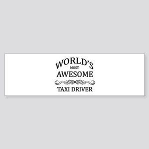 World's Most Awesome Taxi Driver Sticker (Bumper)