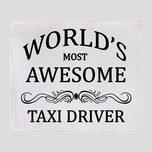 World's Most Awesome Taxi Driver Throw Blanket