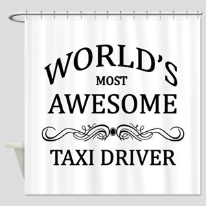 World's Most Awesome Taxi Driver Shower Curtain
