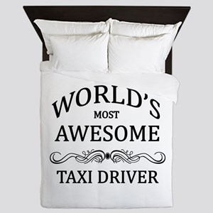 World's Most Awesome Taxi Driver Queen Duvet