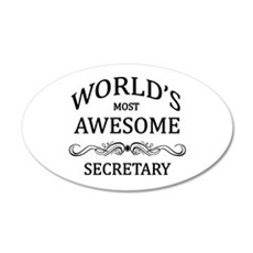 World's Most Awesome Secretary Wall Decal