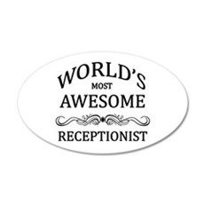 World's Most Awesome Receptionist Wall Decal