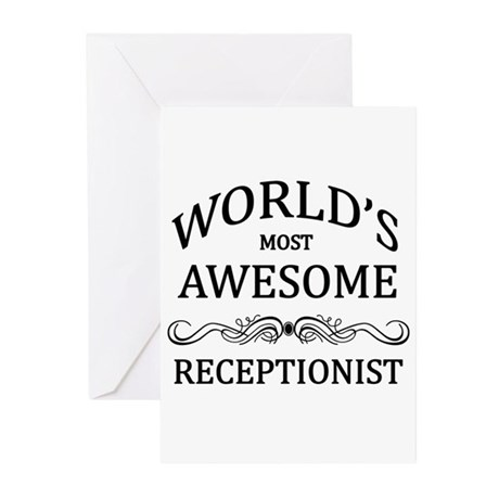 World's Most Awesome Receptionist Greeting Cards (