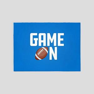 Emoji Football Game On 5'x7'Area Rug