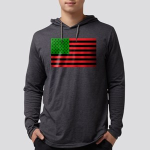 African American Flag Mens Hooded Shirt