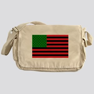 African American Flag Messenger Bag