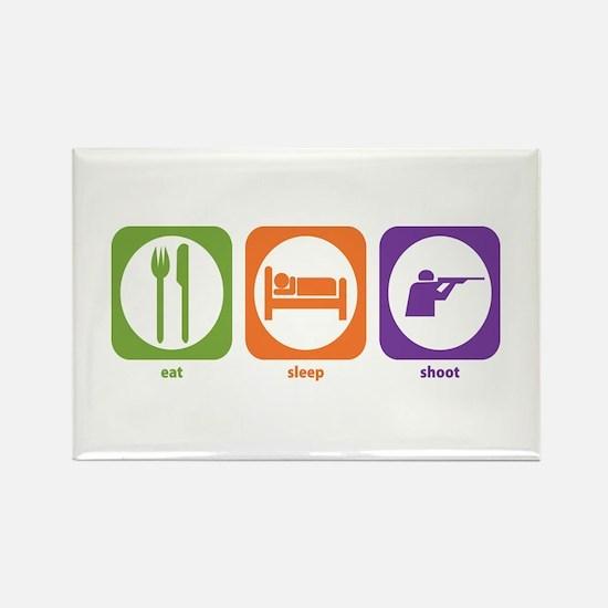 Eat Sleep Shoot Rectangle Magnet
