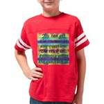 quote gmo TILE BOX copy Youth Football Shirt