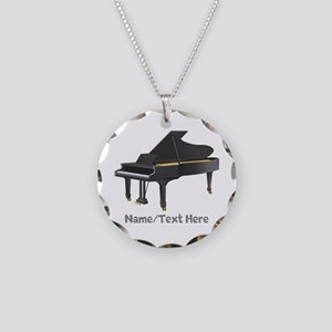 Piano Personalized Necklace Circle Charm