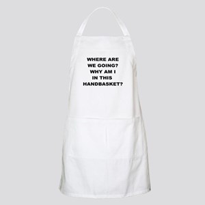 WHERE ARE WE GOING Apron
