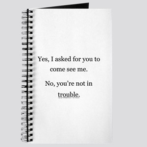 No, You're not in trouble. Journal
