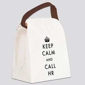 Keep Calm and Call HR Canvas Lunch Bag