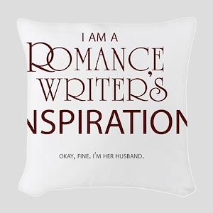 romancewriterhusband_whtxt Woven Throw Pillow