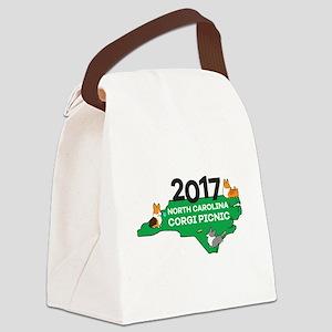 2017 NC Corgi Picnic logo Canvas Lunch Bag