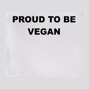 PROUD TO BE VEGAN Throw Blanket