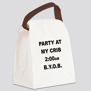 PARTY AT MY CRIB 2AM Canvas Lunch Bag