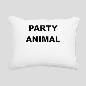 PARTY ANIMAL Rectangular Canvas Pillow